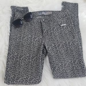 Paige steel gray cheetah verdugo leggings size 28